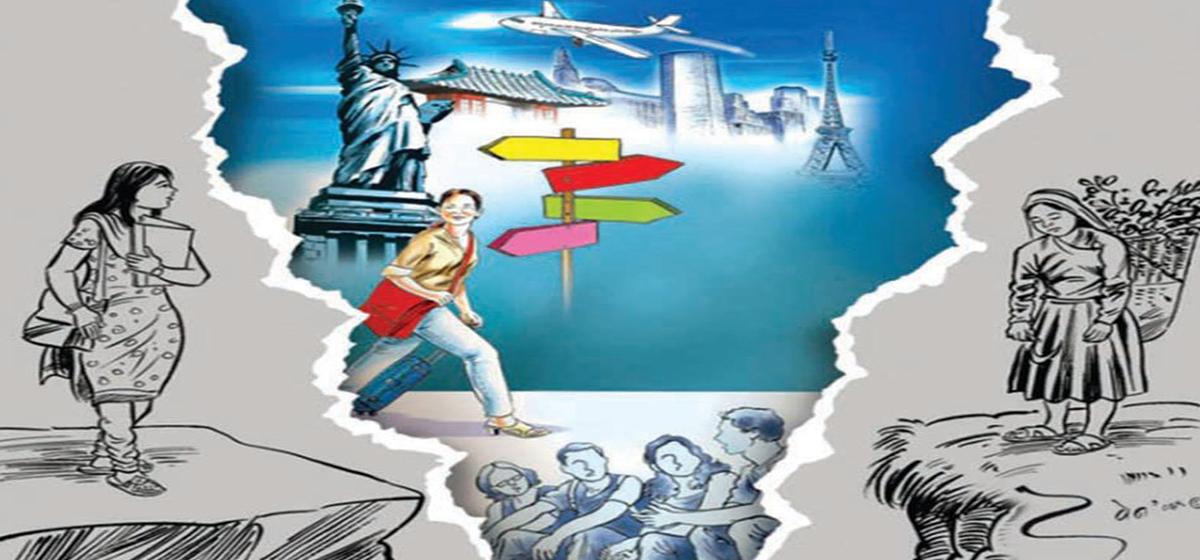 अमेरिका–युरोप मोहमा युवाः न विदेश, न सम्पत्ति